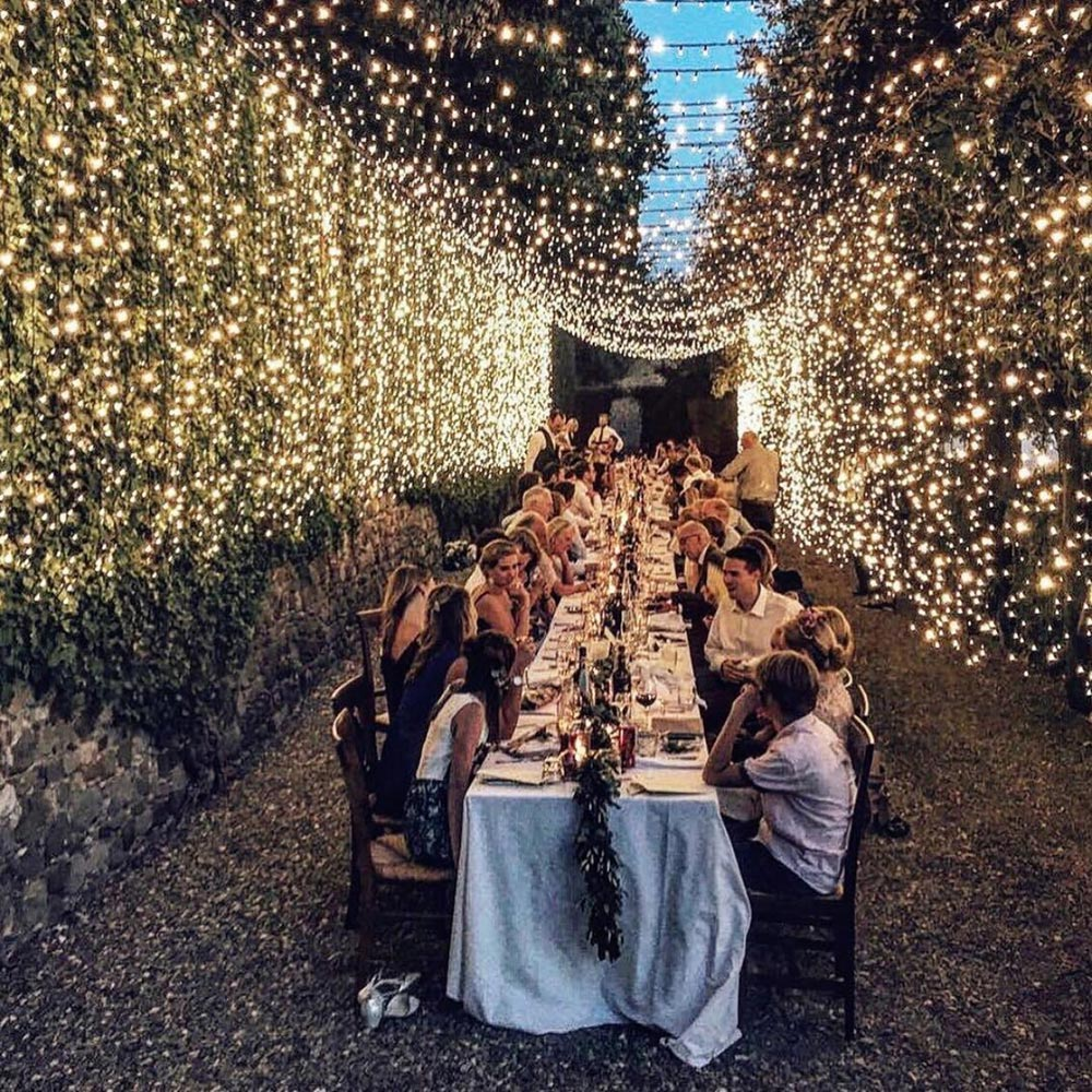20 Magical Wedding Lights You Just Have To See #weddingreceptiondecor #nighttimeweddingdecor #weddingtwinklelightss