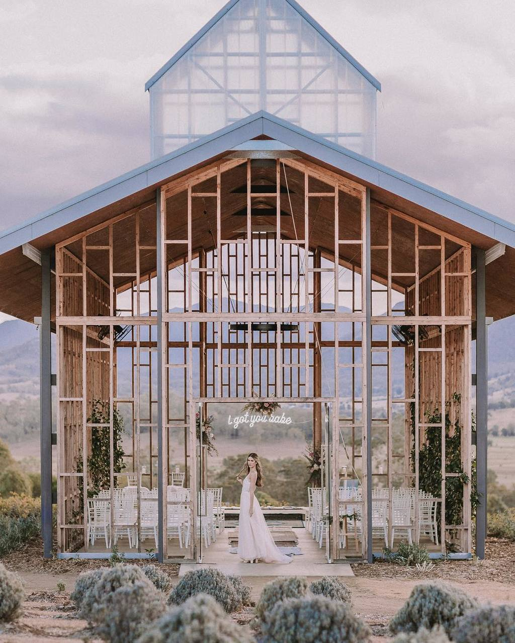 open frame wedding chapel
