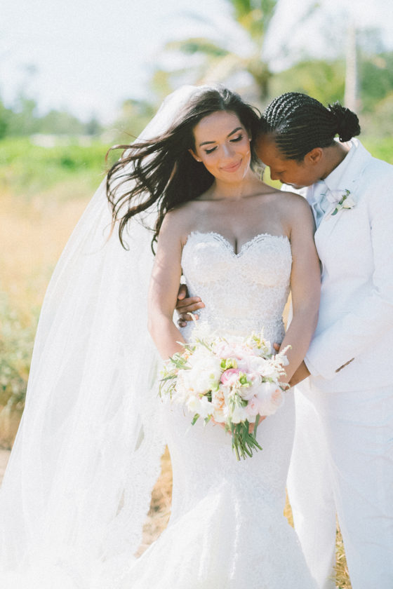 Ultra Romantic Maui Wedding in Blush & Dusty Blue Hues