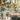 urban garden wedding with edison bulbs and mixed metals