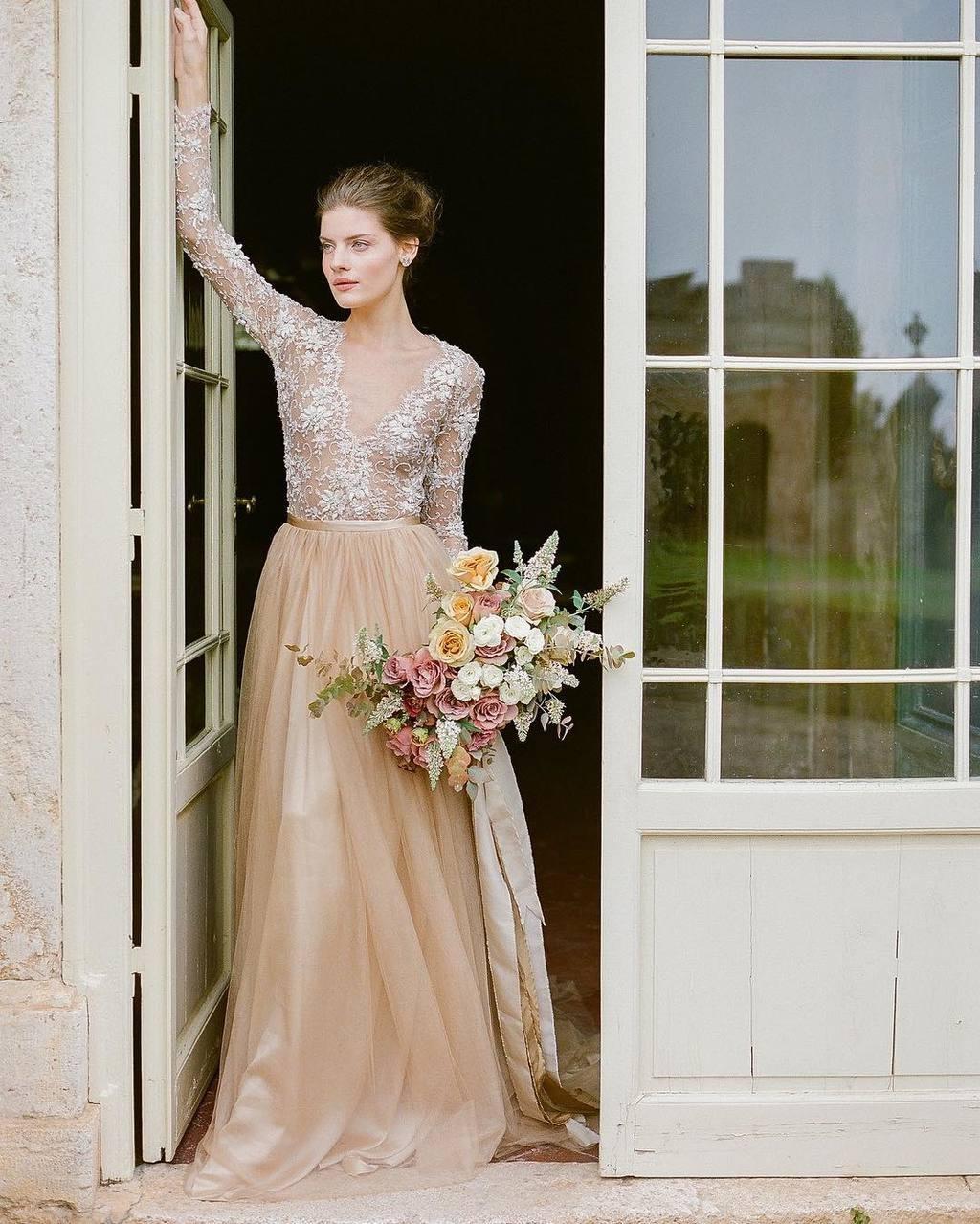 bridal separates long skirt bridesmaids skirt modest wedding dress Blue wedding skirt wedding separates alternative wedding dress
