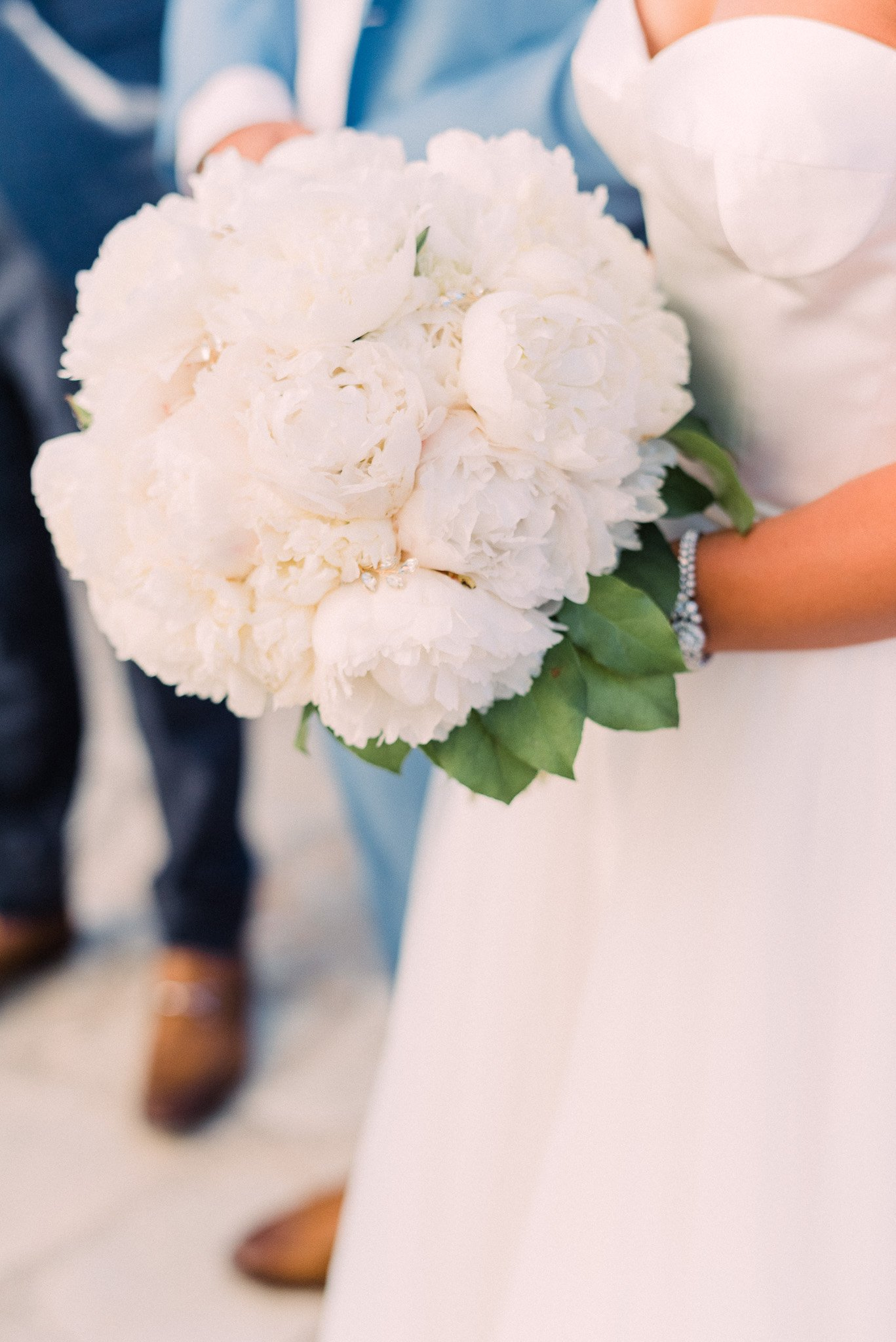 lush white peony bridal bouquet