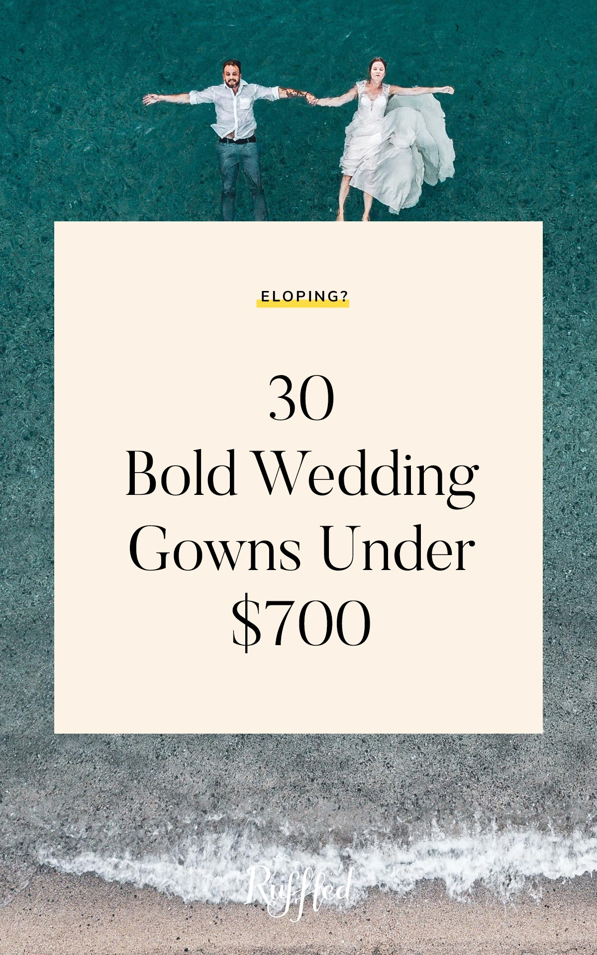 20 Bold Wedding Gowns for under $20 You Can Shop Online ? Ruffled