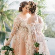 Thailand Beach Club Wedding Blush Wedding Dresses