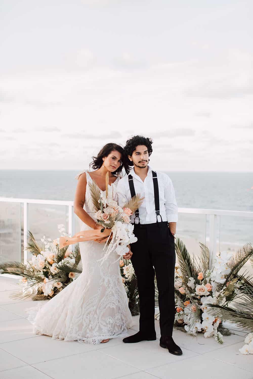 Coastal, Rattan Wedding Inspiration with Boho Blooms ⋆ Ruffled