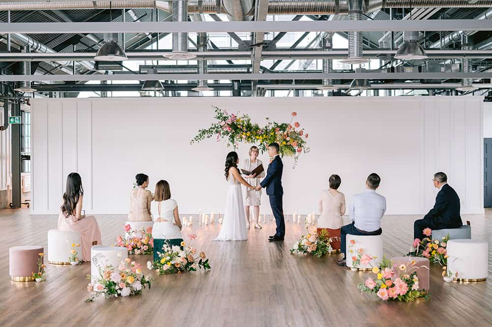 Intimate Vancouver Wedding A Color Burst Of Citrus Ruffled