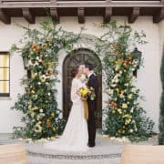 Mission Style Wedding Venue Abstract Decor