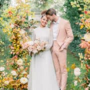 Autumnal Micro Wedding Inspiration In The South Of France / Languedoc Roussillon Intimate Exclusive Wedding At Chateau Saint Martin