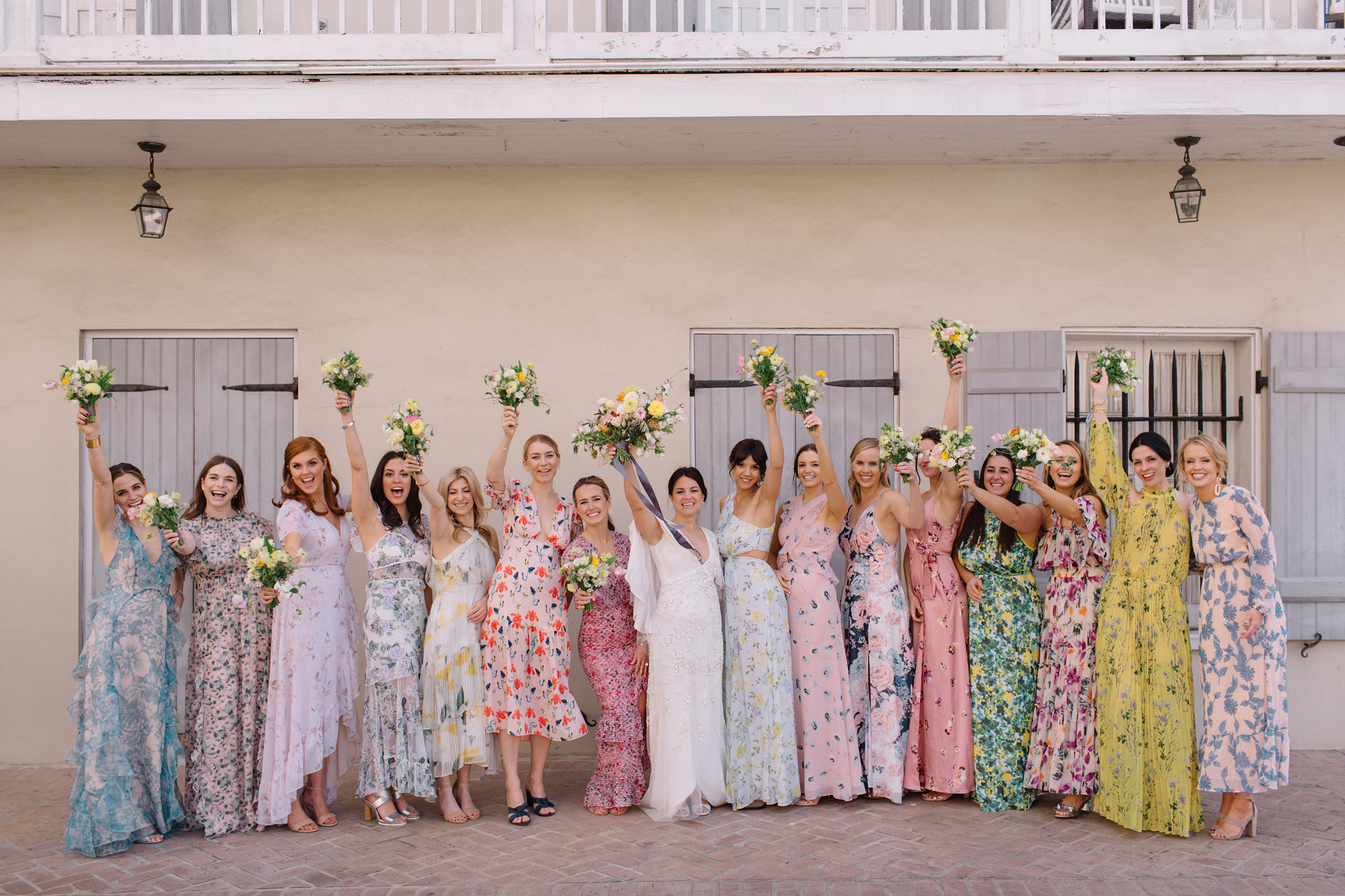 Mismatched Floral Bridesmaid Dresses