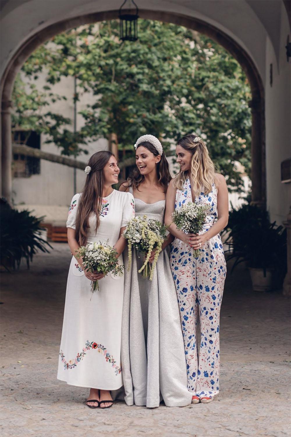 Mismatched Floral Bridesmaid Dresses Copy