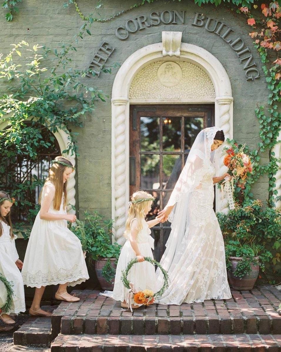 boho wedding flower girl fashion