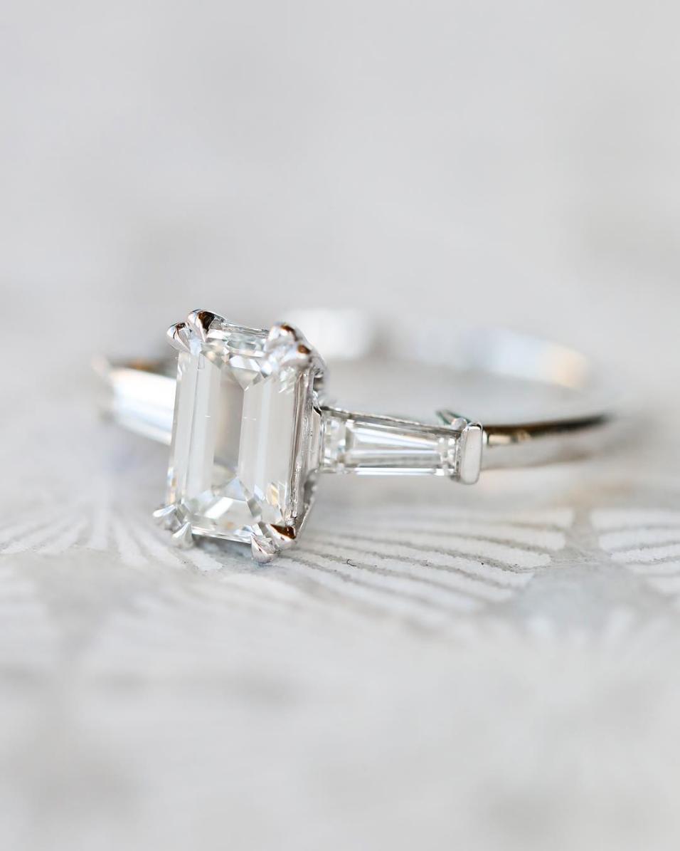 25 Emerald Cut Wedding Rings Making Us Green With Envy Ruffled