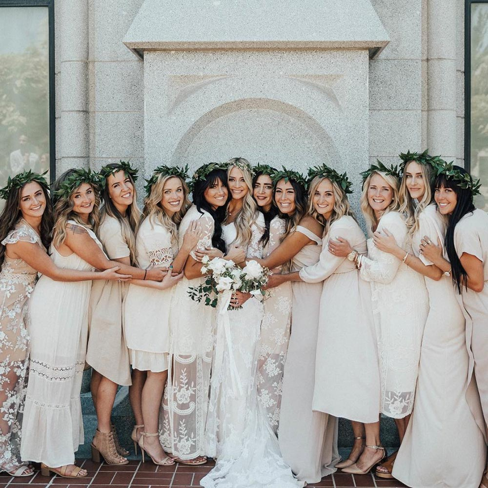 32 all white bridesmaid dresses that are totally slaying for All white wedding dress