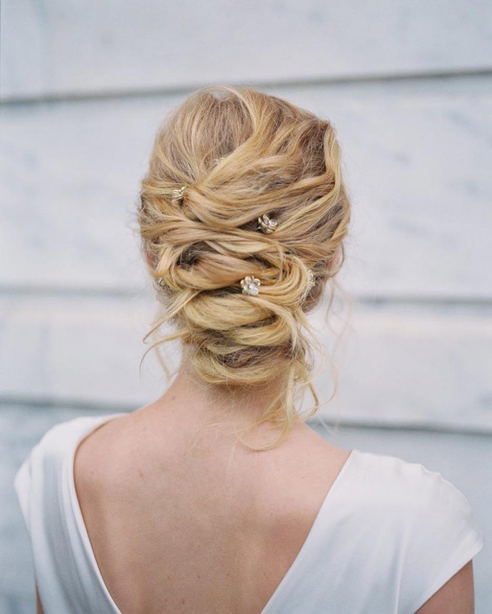 34 loose wedding updos for brides with long hair ruffled braided wedding updo junglespirit Choice Image