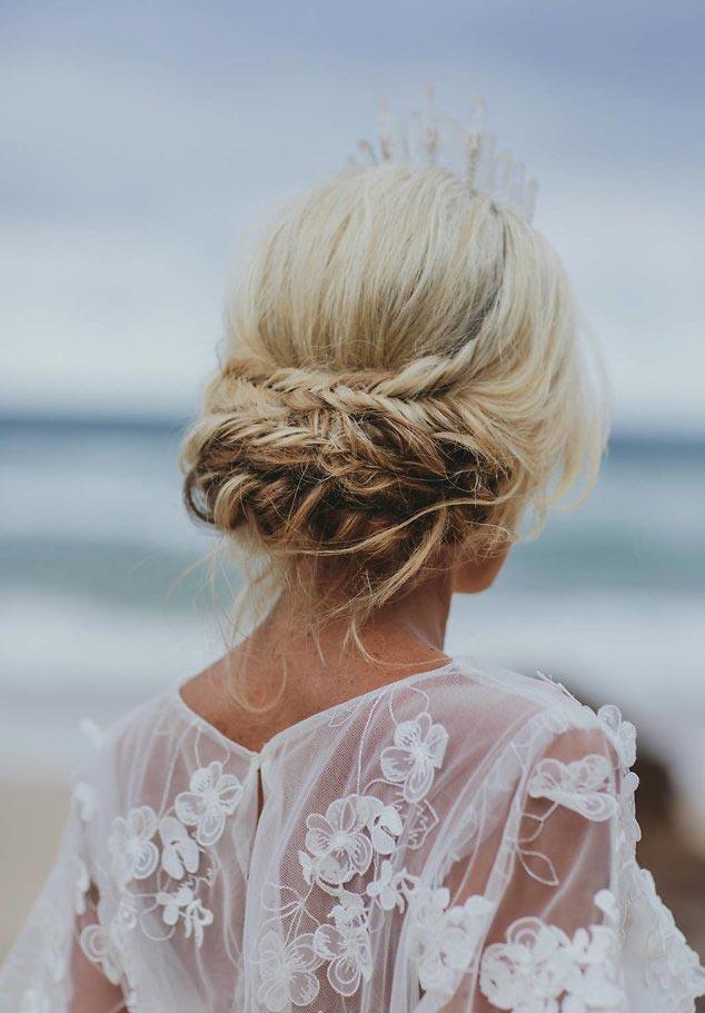 34 loose wedding updos for brides with long hair ruffled loose braided wedding updo junglespirit Choice Image