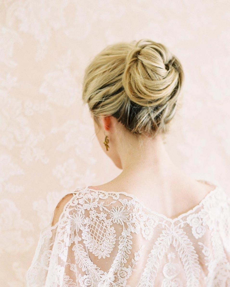 34 loose wedding updos for brides with long hair ruffled long hair wedding updo junglespirit Gallery