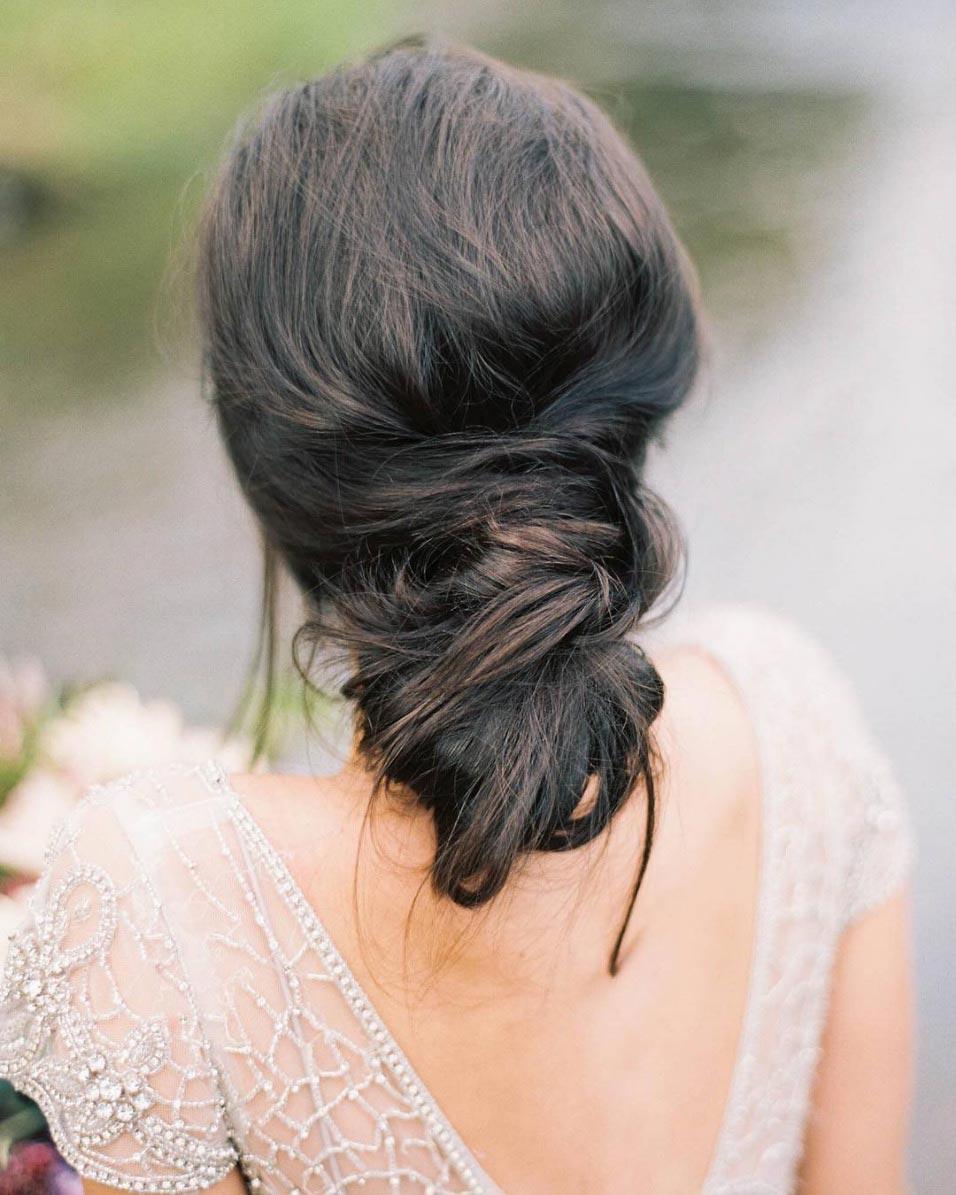 34 loose wedding updos for brides with long hair ruffled loose messy wedding updo junglespirit Choice Image