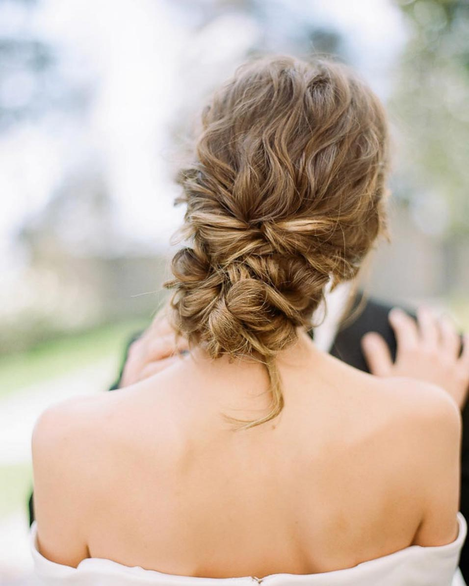 34 loose wedding updos for brides with long hair · ruffled
