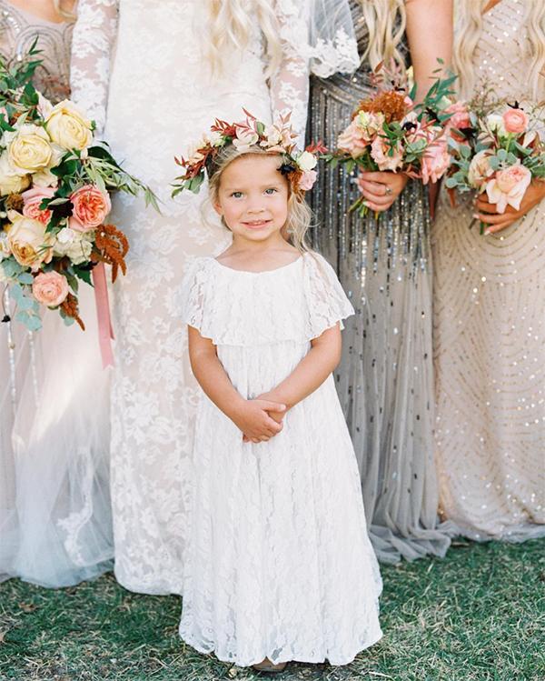 46 Flower Girl Dresses To Make Your Heart Skip A Beat #flowergirls #kidsinweddings #flowergirlfashion