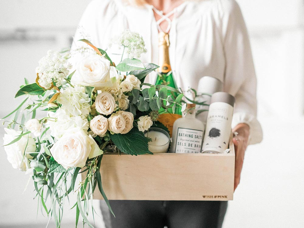 curated bridal gift box Wish and Pink