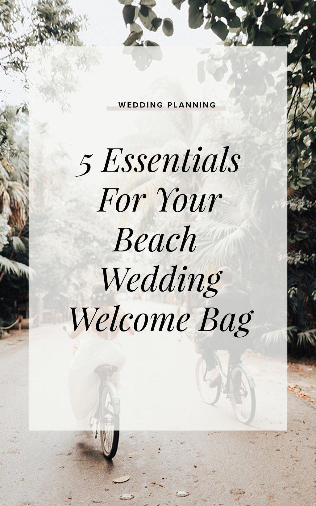 5 Essentials Beach Wedding Welcome Bag Cover