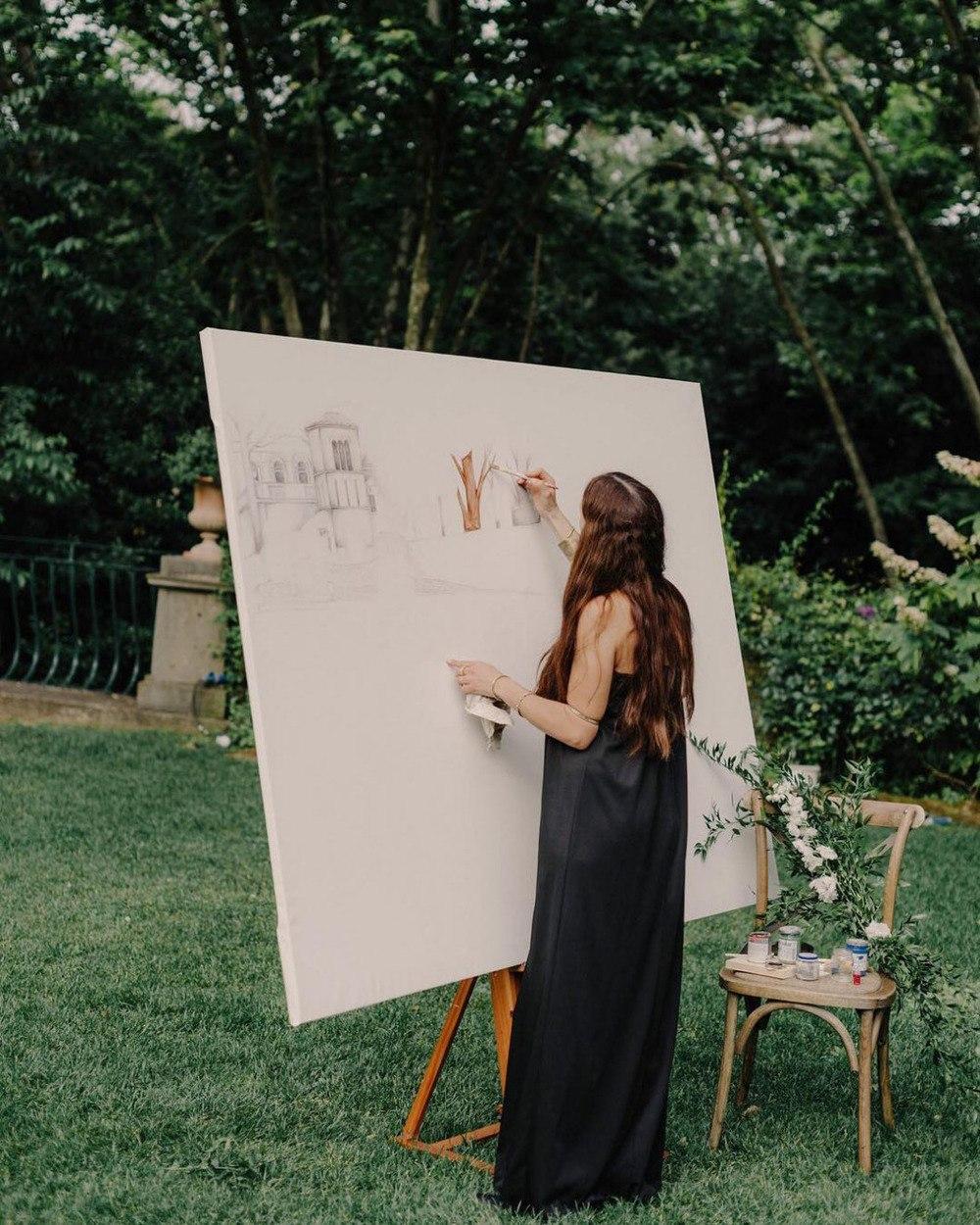 live painter wedding reception