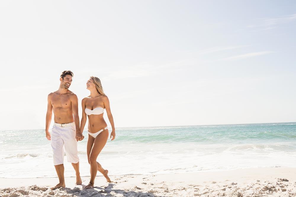 Caribbean beach honeymoon white sand