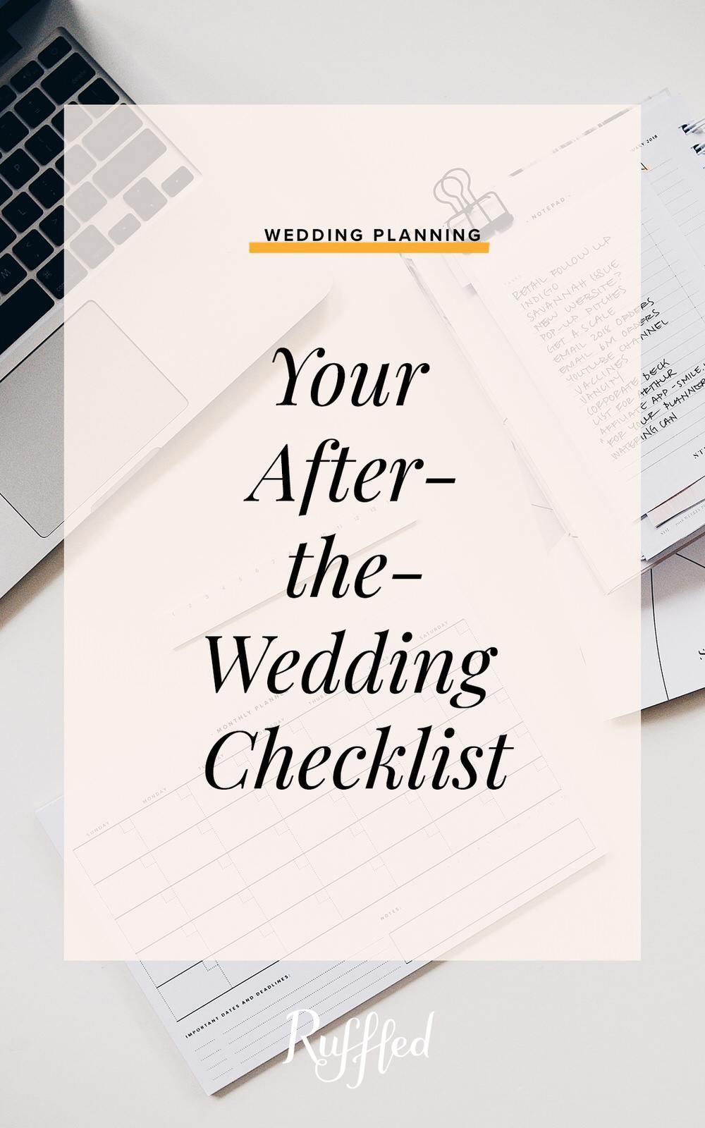 After The Wedding Checklist