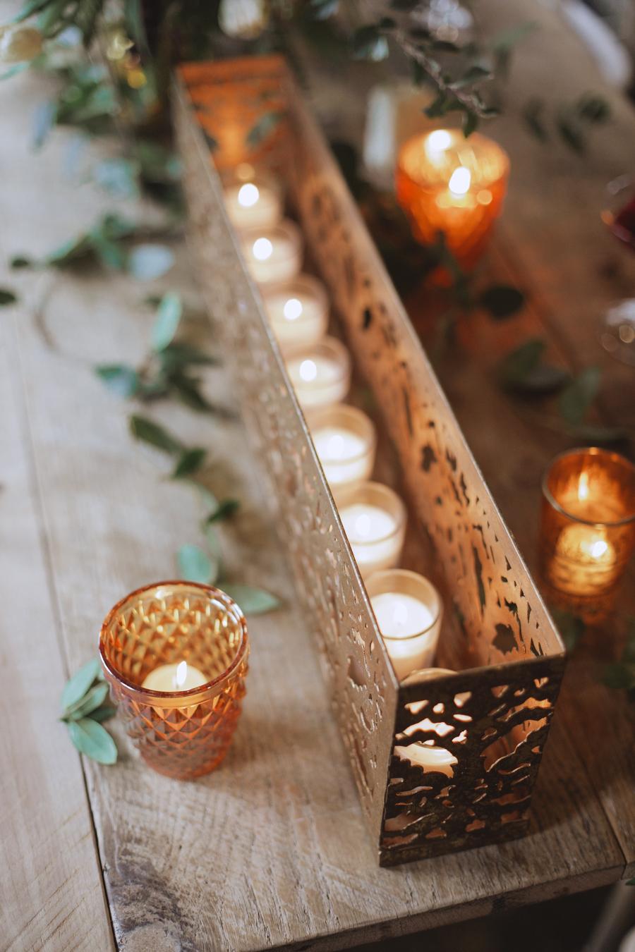 romantic lighting for weddings - https://ruffledblog.com/rustic-woodland-chic-wedding-inspiration-in-baltimore