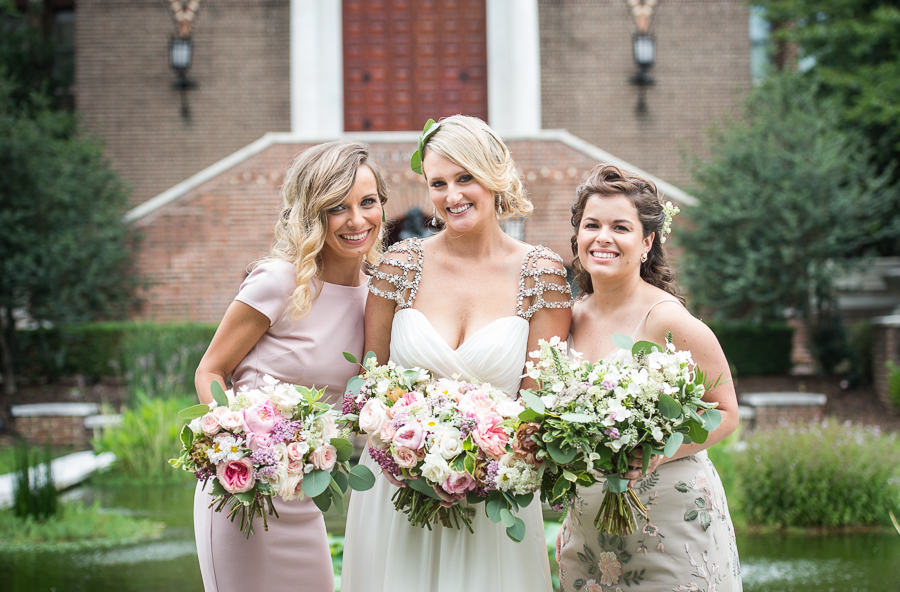 bridesmaid portraits - photo by Bee Dee Blue Photography http://ruffledblog.com/edwardian-england-inspired-wedding-ideas