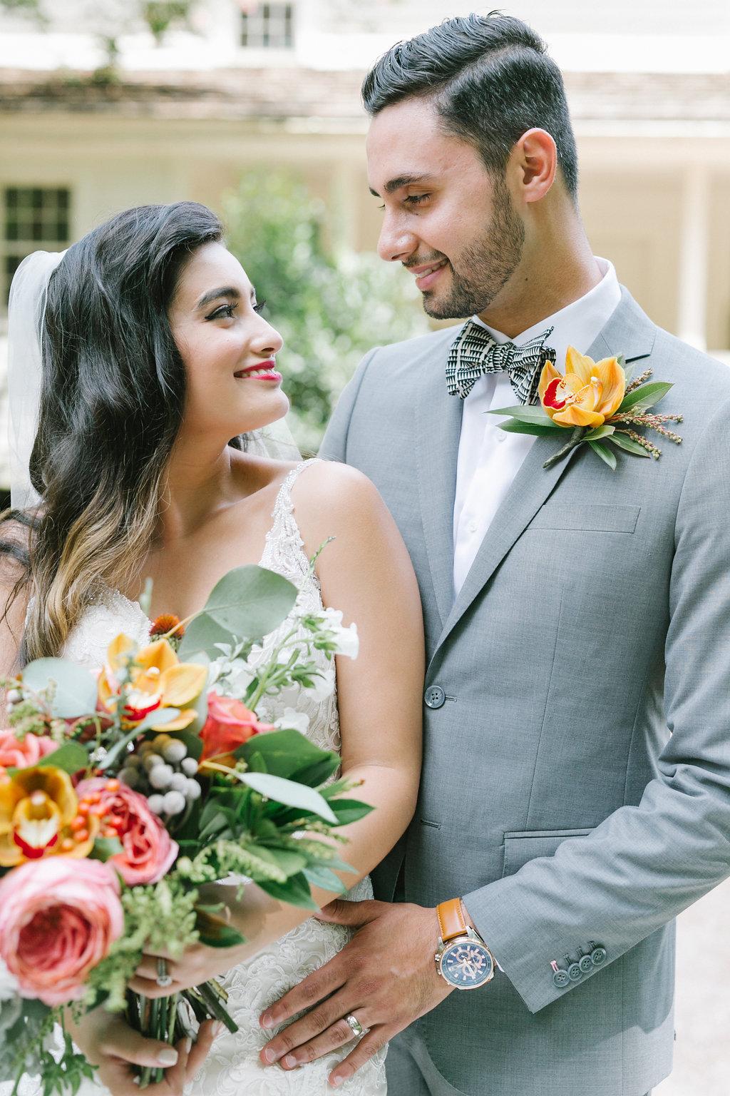 weddings with tropical color schemes - https://ruffledblog.com/vibrant-atlanta-wedding-inspiration-with-rust-accents