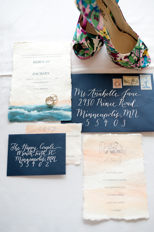 ocean inspired wedding invitations - photo by Studio Twelve 52 http://ruffledblog.com/california-coast-inspired-wedding-ideas