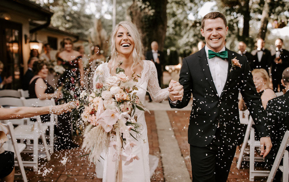 Hotel du Village Wedding with Dried Flowers of our Fall Dreams