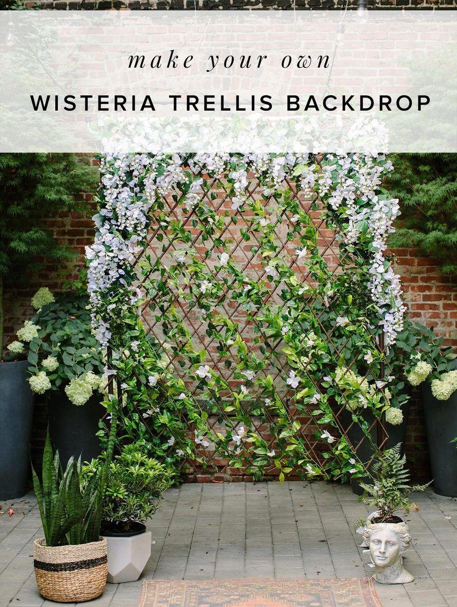DIY Wisteriatrellisbackdrop Ruffled