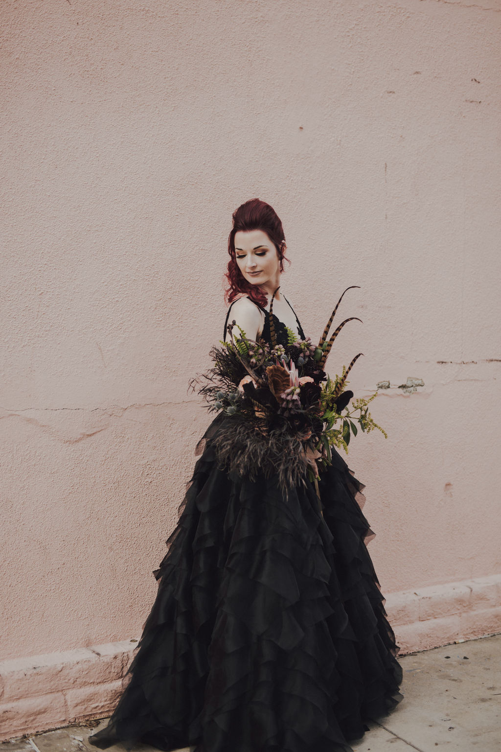 Dark Moody LA Wedding002