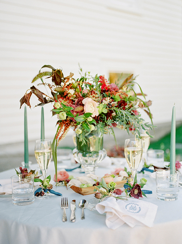 Entertaining Tips for Styling Fall Table #fall #advice #monograms #tablescape #pursuepretty