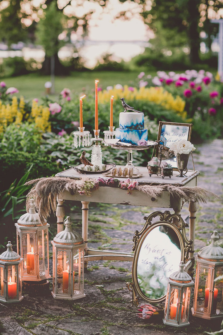 Beautiful  ethereal wedding inspo See more: https://ruffledblog.com/lakeside-wedding-inspiration #weddingblog #weddings
