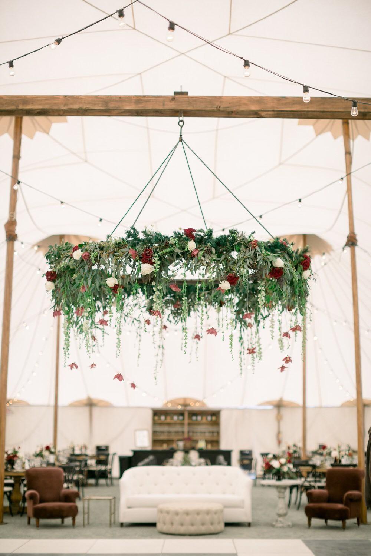 Glamorous Christmas Wedding Under A Massive Sailcloth Tent Ruffled