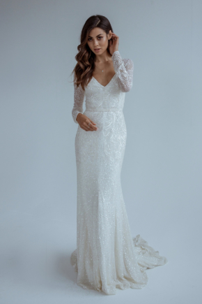 Bias Cut Wedding Gown