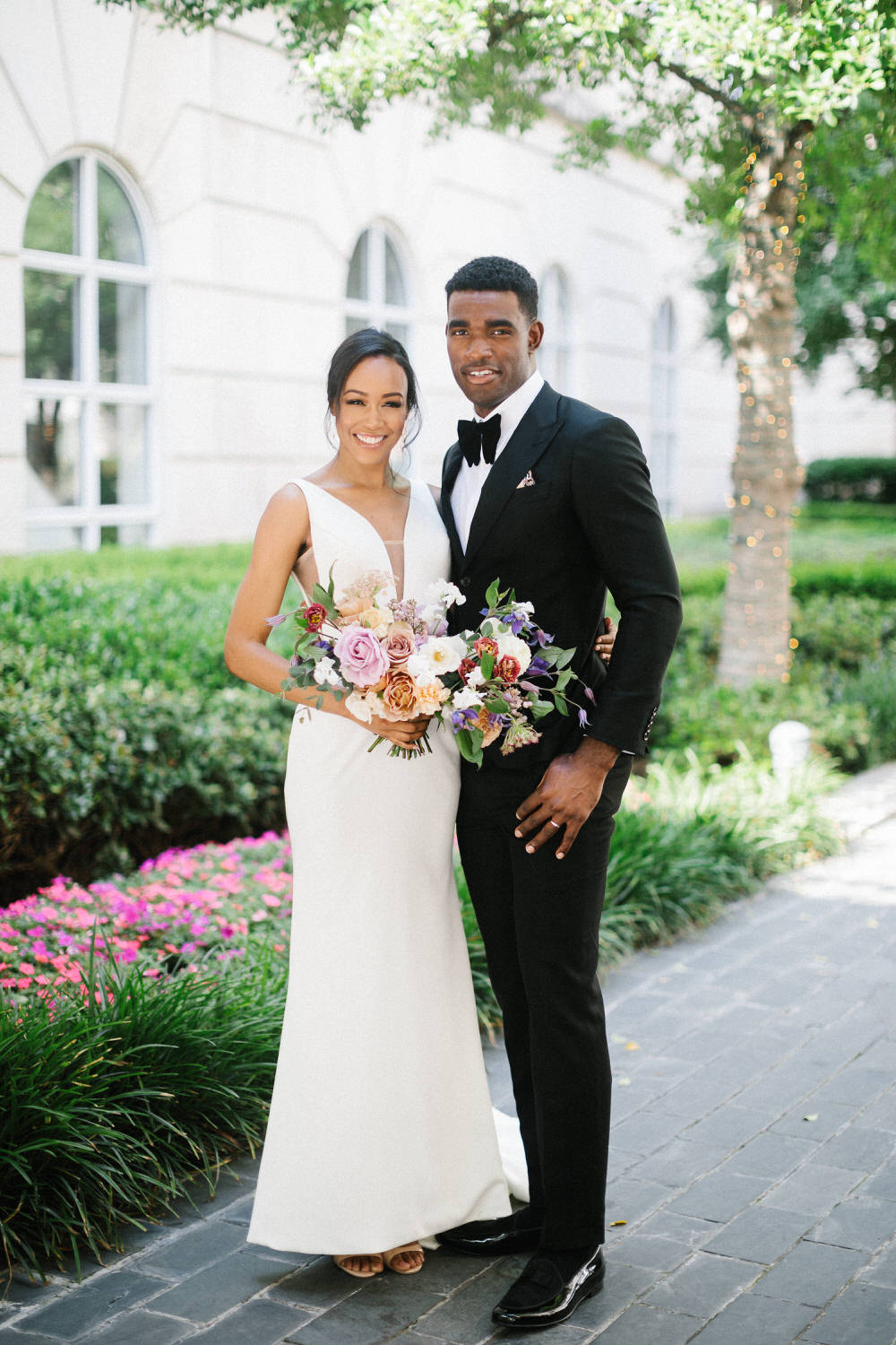 bride and groom portrait at Dallas wedding