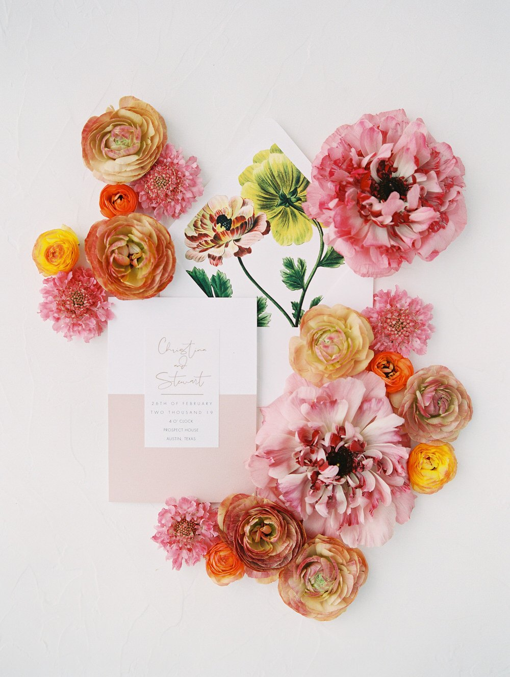 contemporary colors in wedding stationery