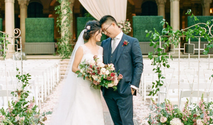 bride and groom photo in Southern California wedding