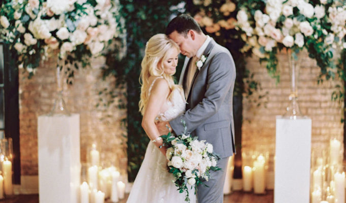 bride and groom portrait in New Orleans