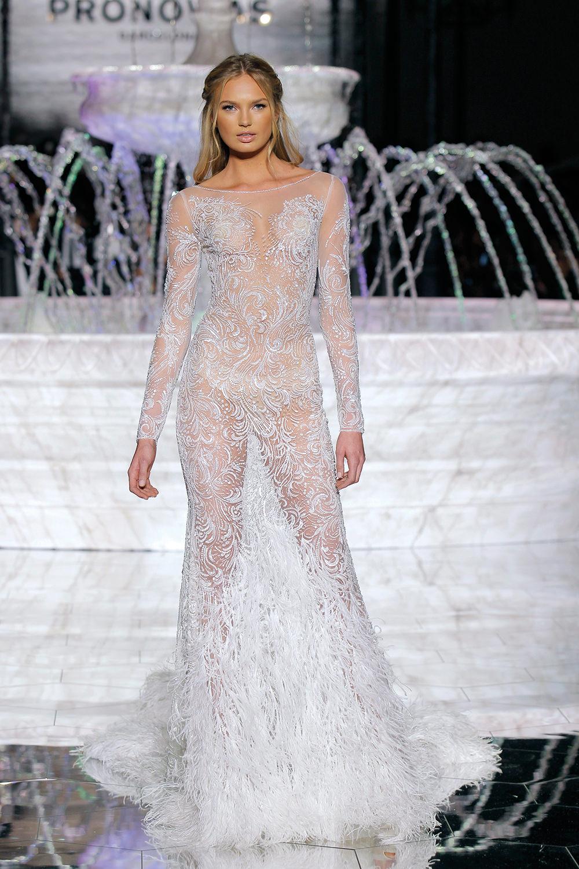 Atelier Pronovias 2018 at Barcelona Bridal Fashion Week - http://ruffledblog.com/atelier-pronovias-2018-at-barcelona-bridal-fashion-week