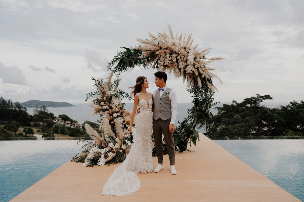 bride and groom in Phuket