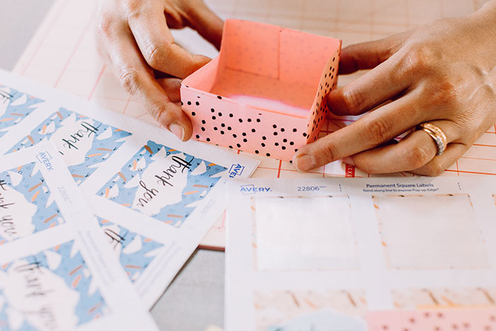 DIY Origami Favor Boxes - photo by Clarence Chan Photography http://ruffledblog.com/diy-origami-favor-boxes-free-printables