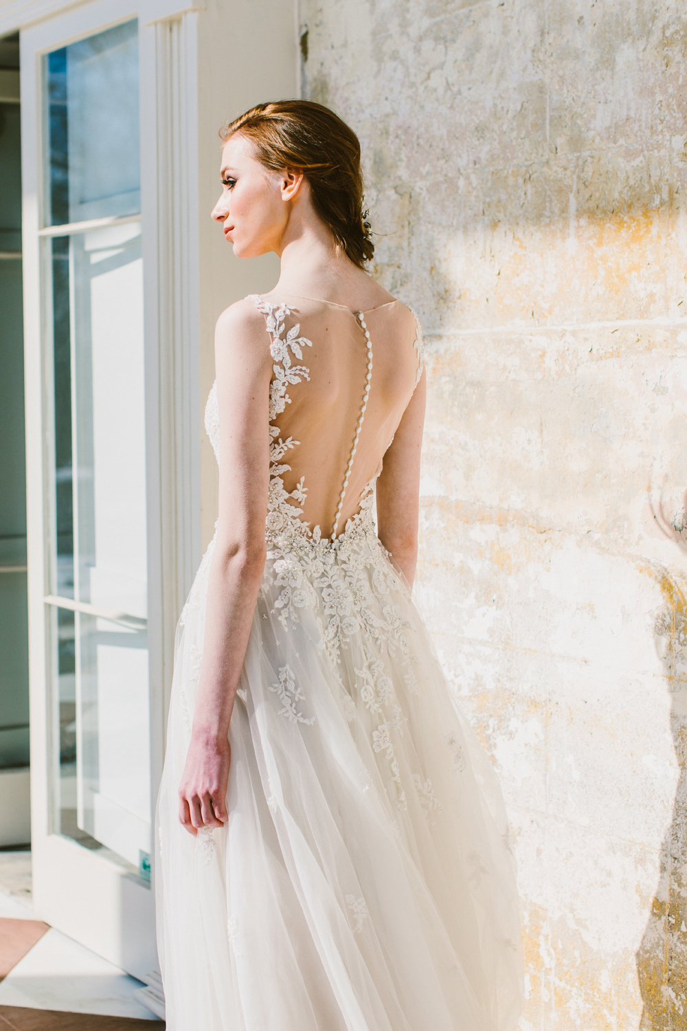 Modern Fairytale wedding gowns with Maggie Sottero - https://ruffledblog.com/modern-fairytale-gowns-maggie-sottero-designs Redfield Photography