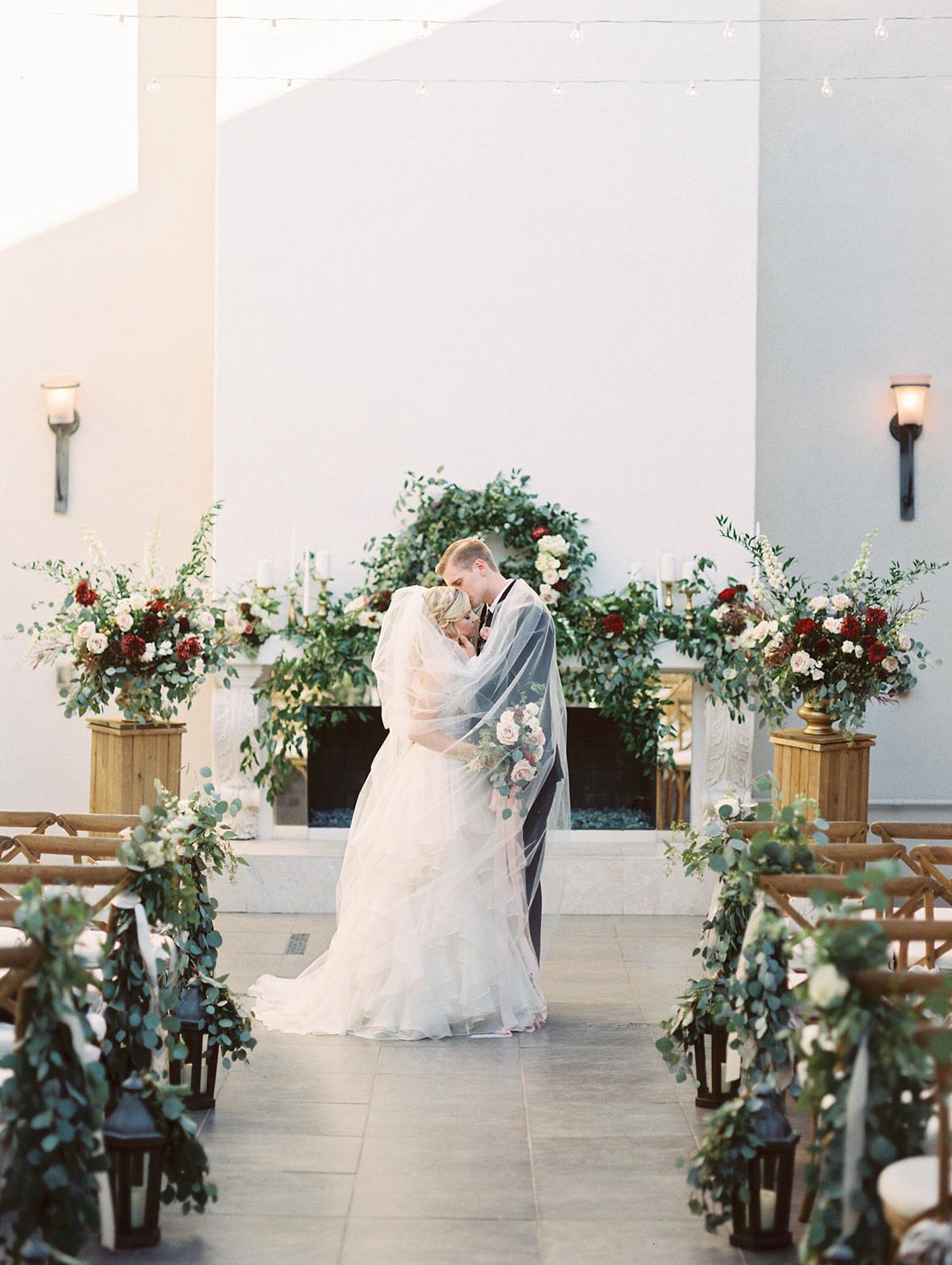 secret garden romantic wedding ceremony- photo Charity Maurer https://ruffledblog.com/stylish-arizona-wedding-with-secret-garden-vibes