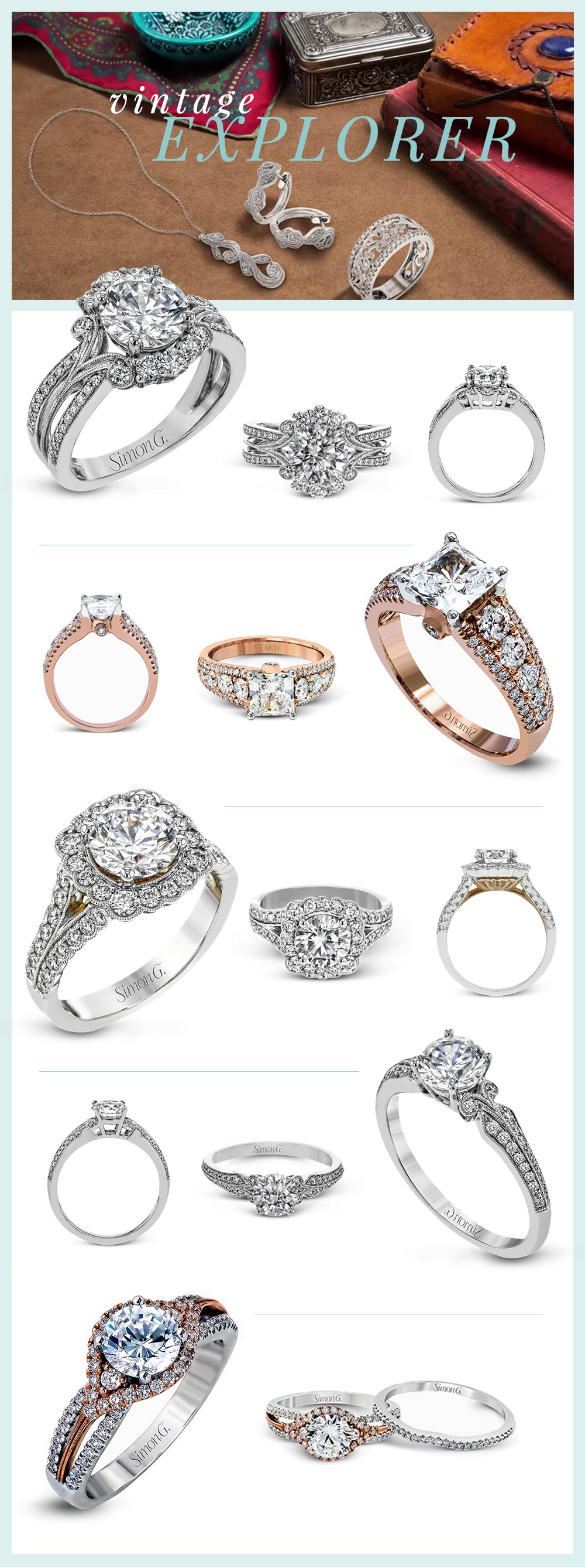 rose gold engagement ring styles