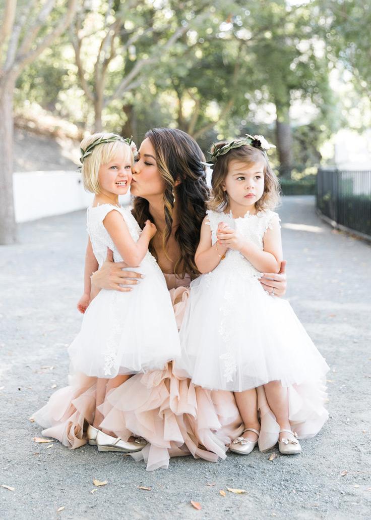 Sweet, classic flower girl looks that will melt your heart #kidsinweddings #flowergirls #weddingfashion see more: https://ruffledblog.com/sweetest-flower-girl-looks/